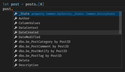 Accessing posts via SQL Provider