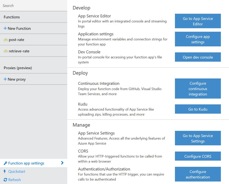 Function App Settings