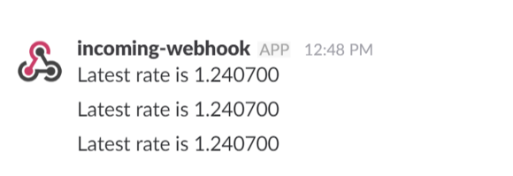 Regular Messages on Slack