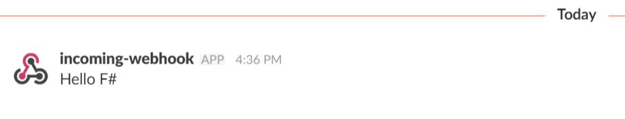 Message posted on Slack