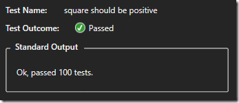 Passing square test
